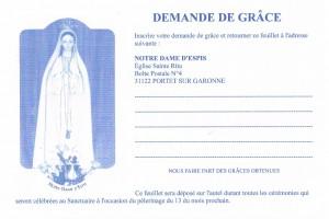 Demande de grâce Notre Dame d'Espis 2